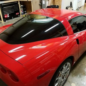 Red C6 Vette